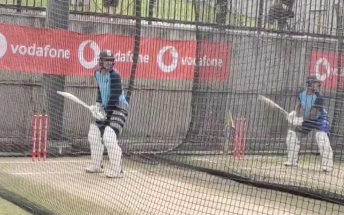 aus vs ind boxing day test shubman gill batting in nets with mayank agarwal video in hindi