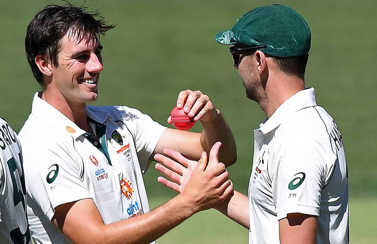 image for cricket josh hazlewood and pat cummins