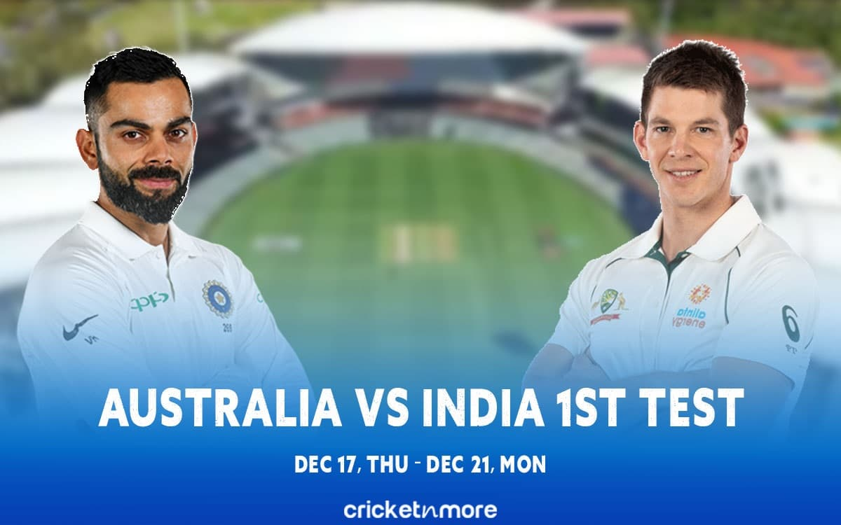 image for cricket australia vs india 1st pink ball test match