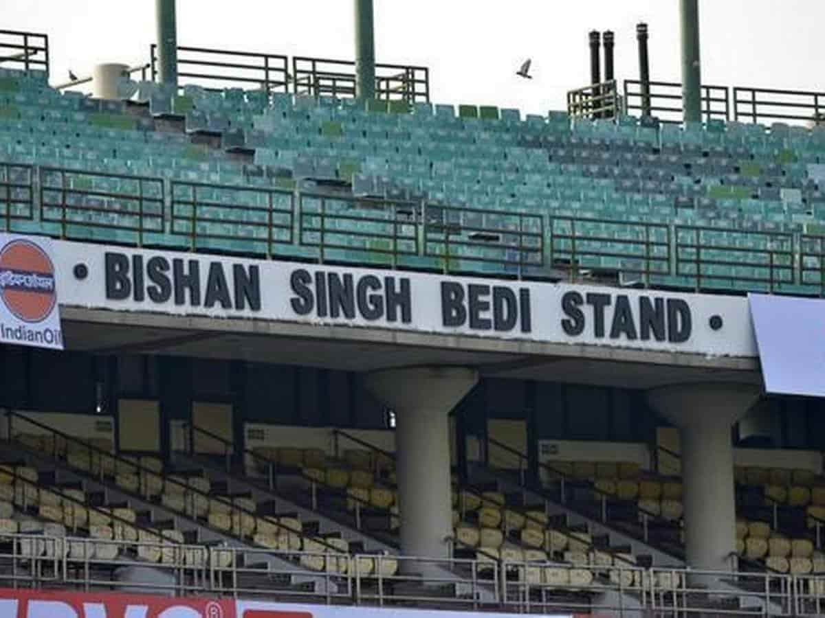 image for cricket bishan singh bedi stand at feroz shah kotla