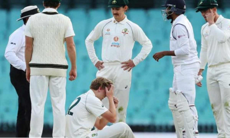 cameron green substituted by Patrick Rowe after hitted on head by jasprit bumrah