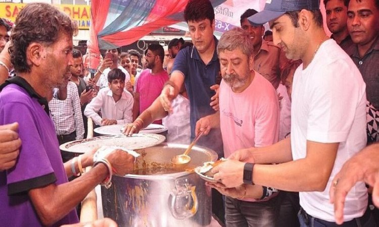cricket images for gautam Gambhir will launch Jan Rasoi canteens to help the needy