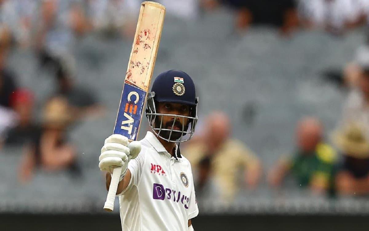Image of Cricketer Ajinkya Rahane, P;ayer Scored Century