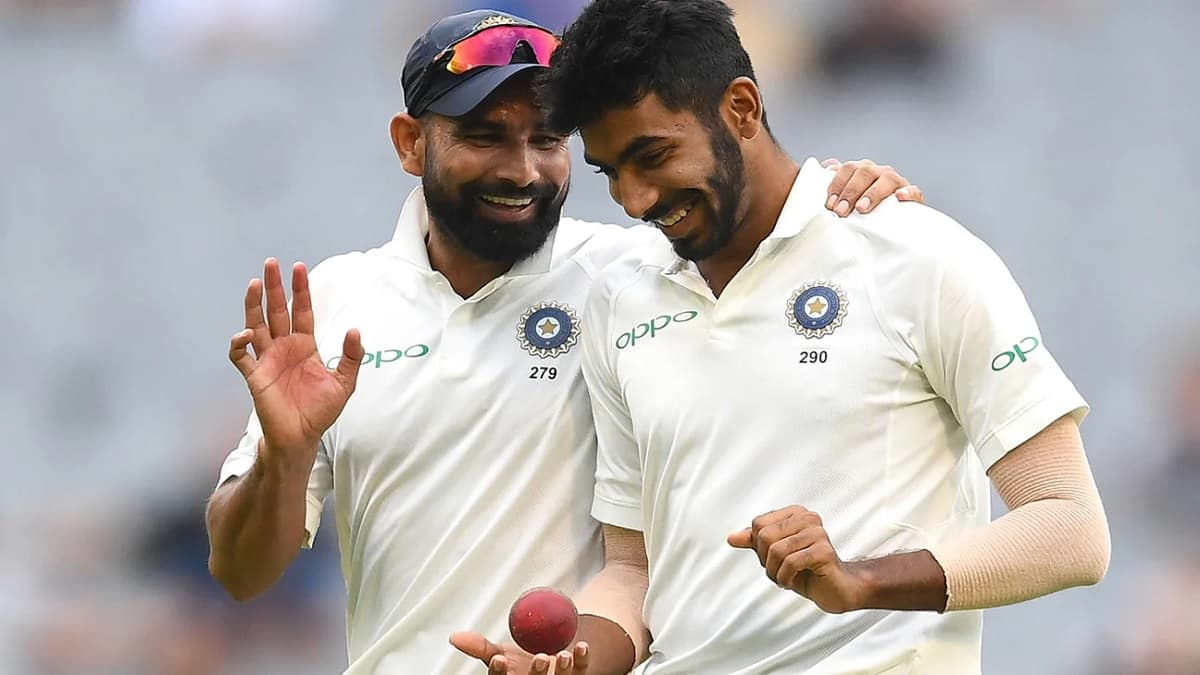 image for cricket mohammed shami and jasprit bumrah