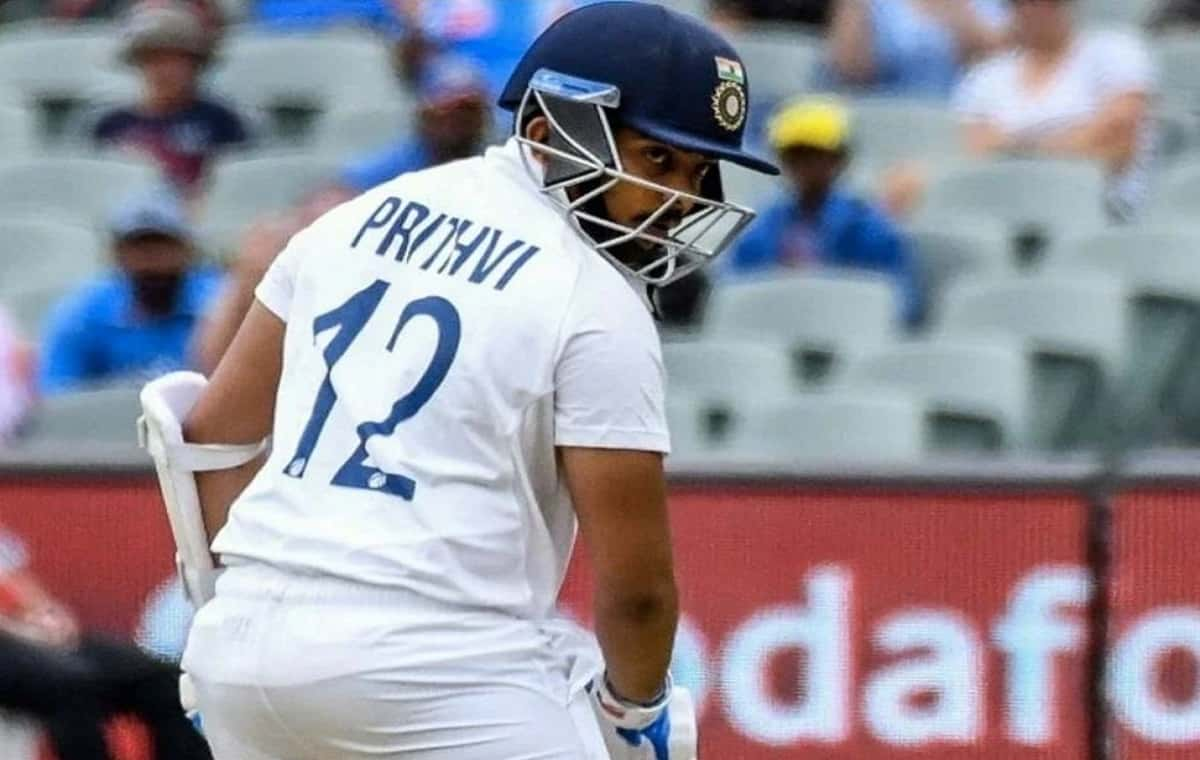 Image of Cricketer Prithvi Shaw
