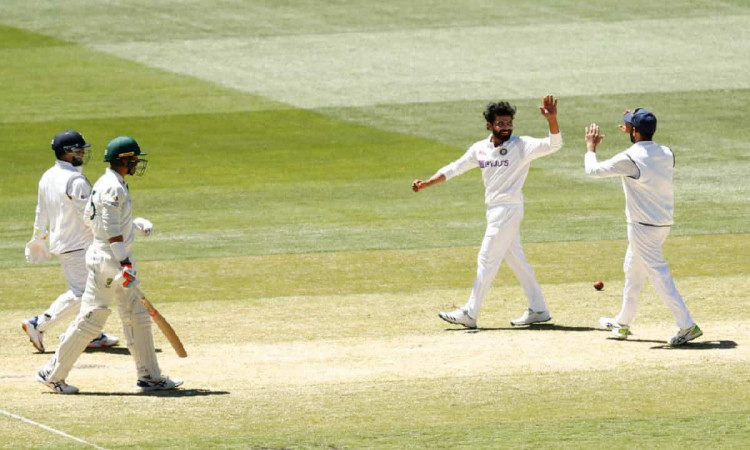 Image of Cricket Match Between Australia and India