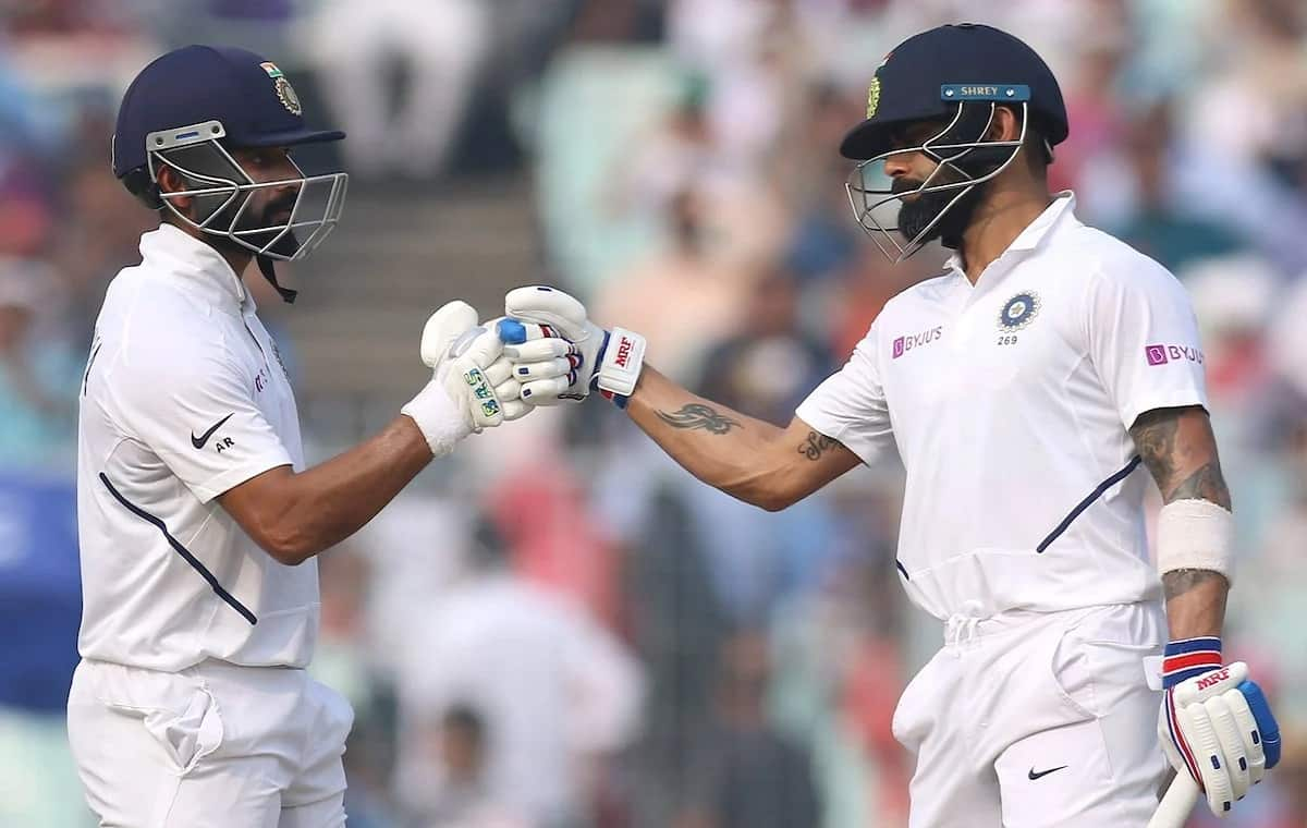 Image of Cricketer Virat Kohli and Ajinkya Rahane