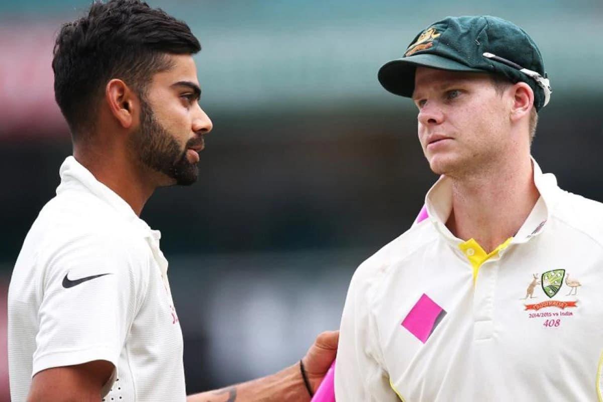 Image of Cricketer Virat Kohli and Steve Smith