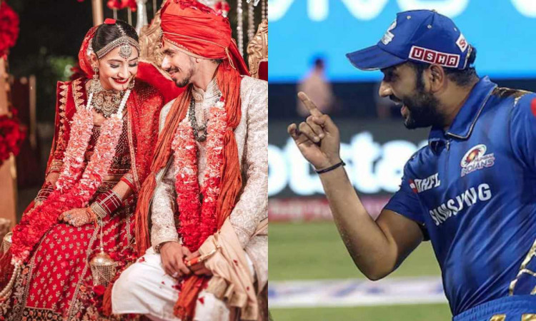 keep those googlies for opposition not her rohit sharma congratulate yuzvendra chahal for marriage
