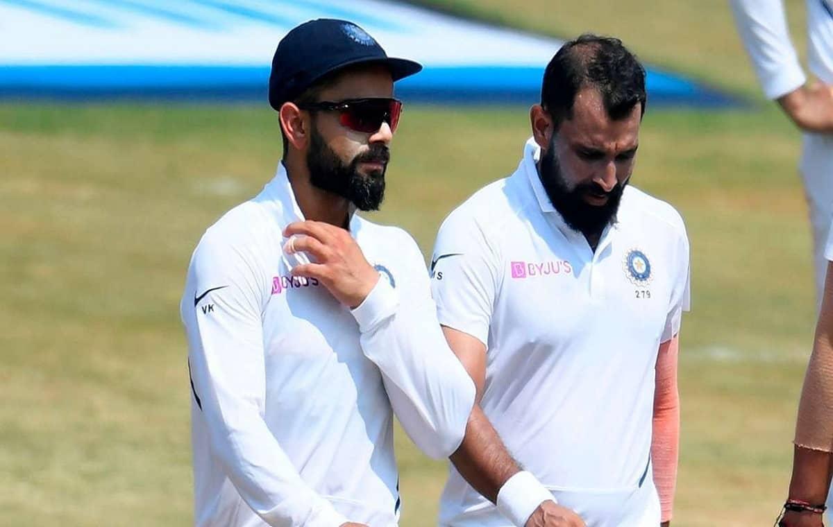 Image of Cricketer Mohammed Shami and Virat Kohli