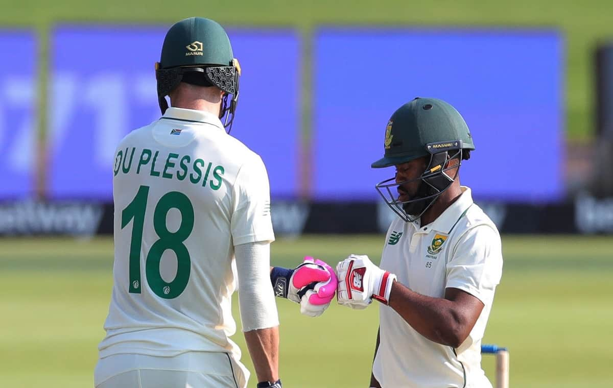 Image of Cricketer Faf du Plessis and Temba Bavuma