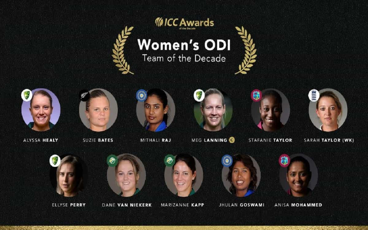 Image of Cricket ICC Women's ODI Team Of The Decade