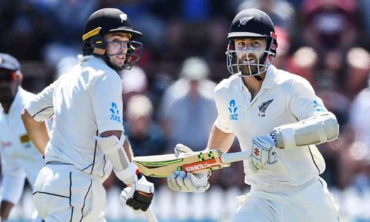 Image of New Zealand batsman Kane Williamson and Tom Latham