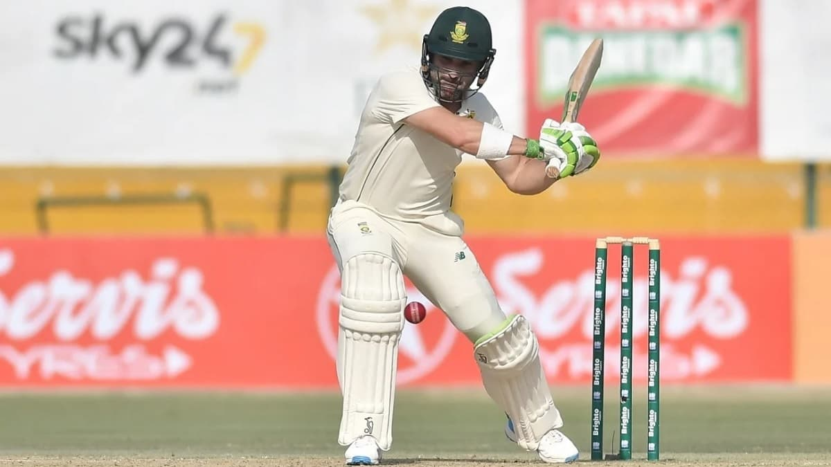 Cricket Image for 1st Test: Elgar Steadies South Africa After Early Wickets Against Pakistan