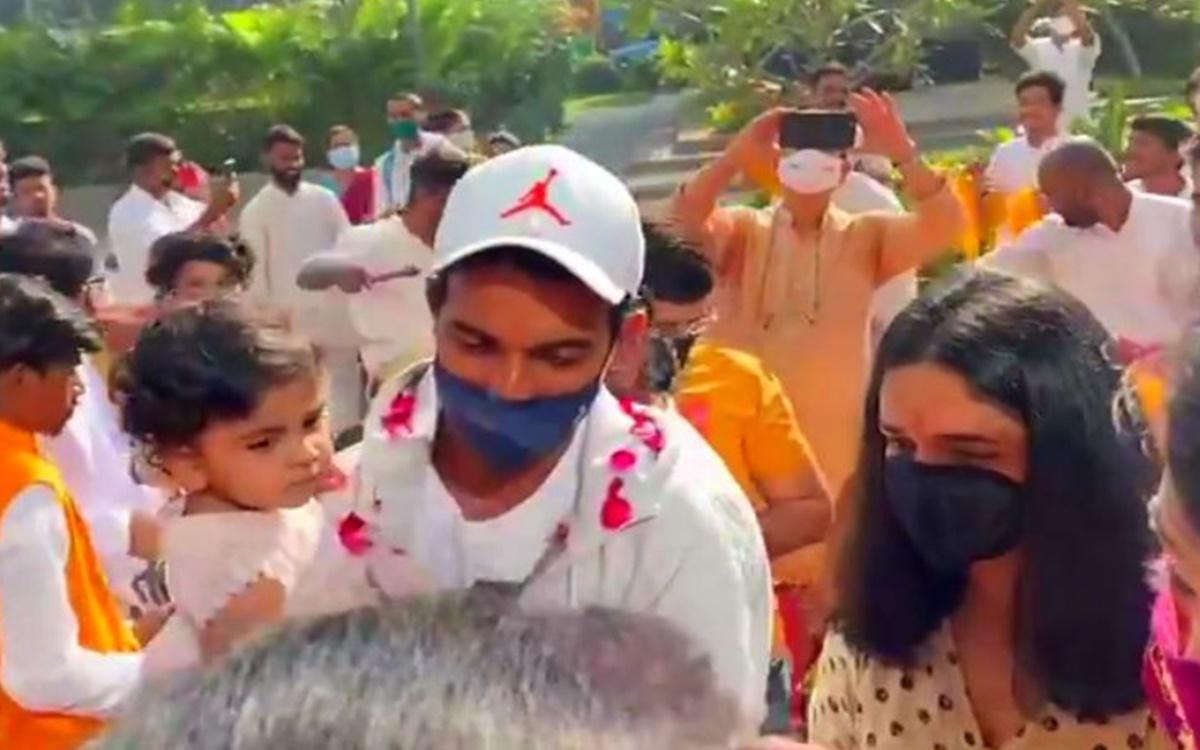 Ajinkya Rahane gets royal welcome as he return home after historic win over australia