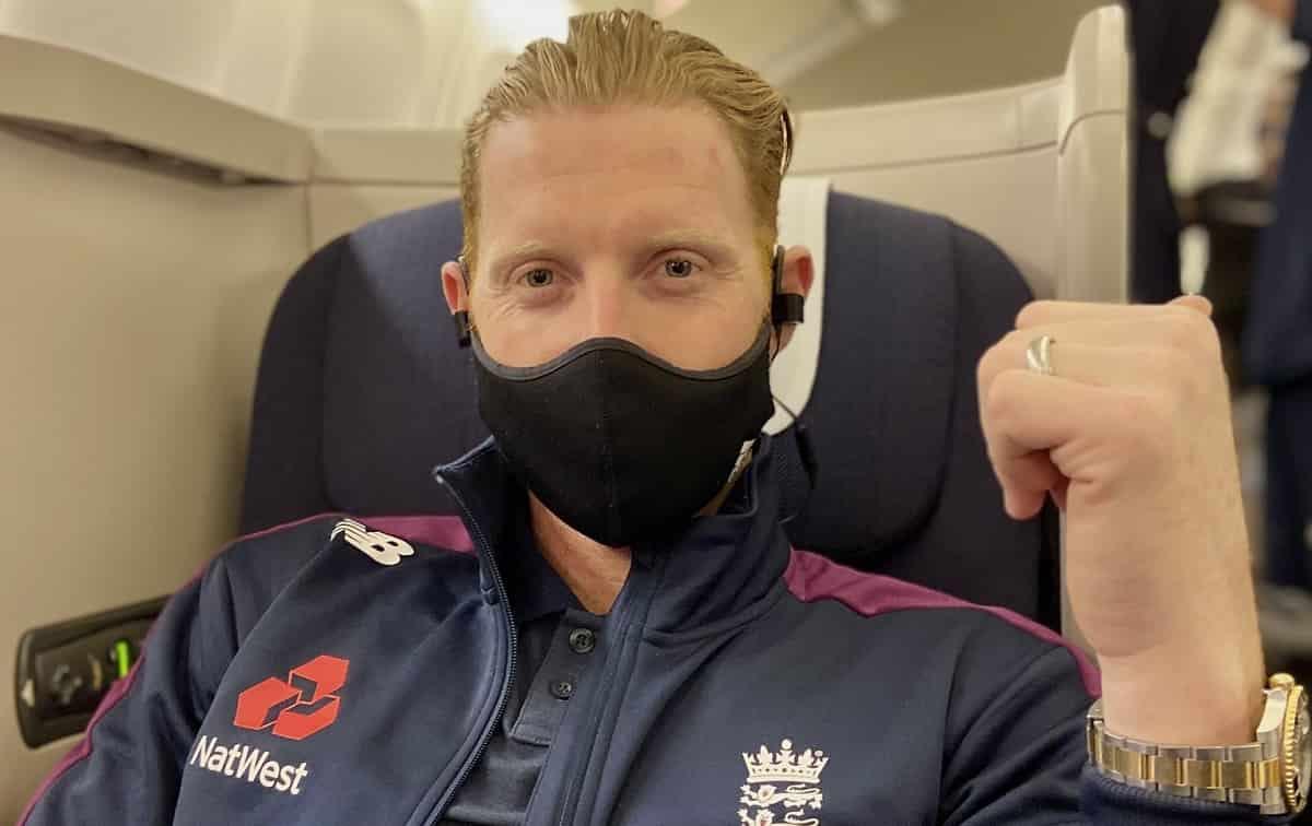 Cricket Image for इंग्लैंड के ऑलराउंडर Ben Stokes भारत रवाना हुए, फोटो शेयर कर लिखा ये मैसेज