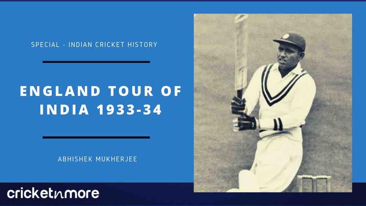 England Tour Of India 1933-34
