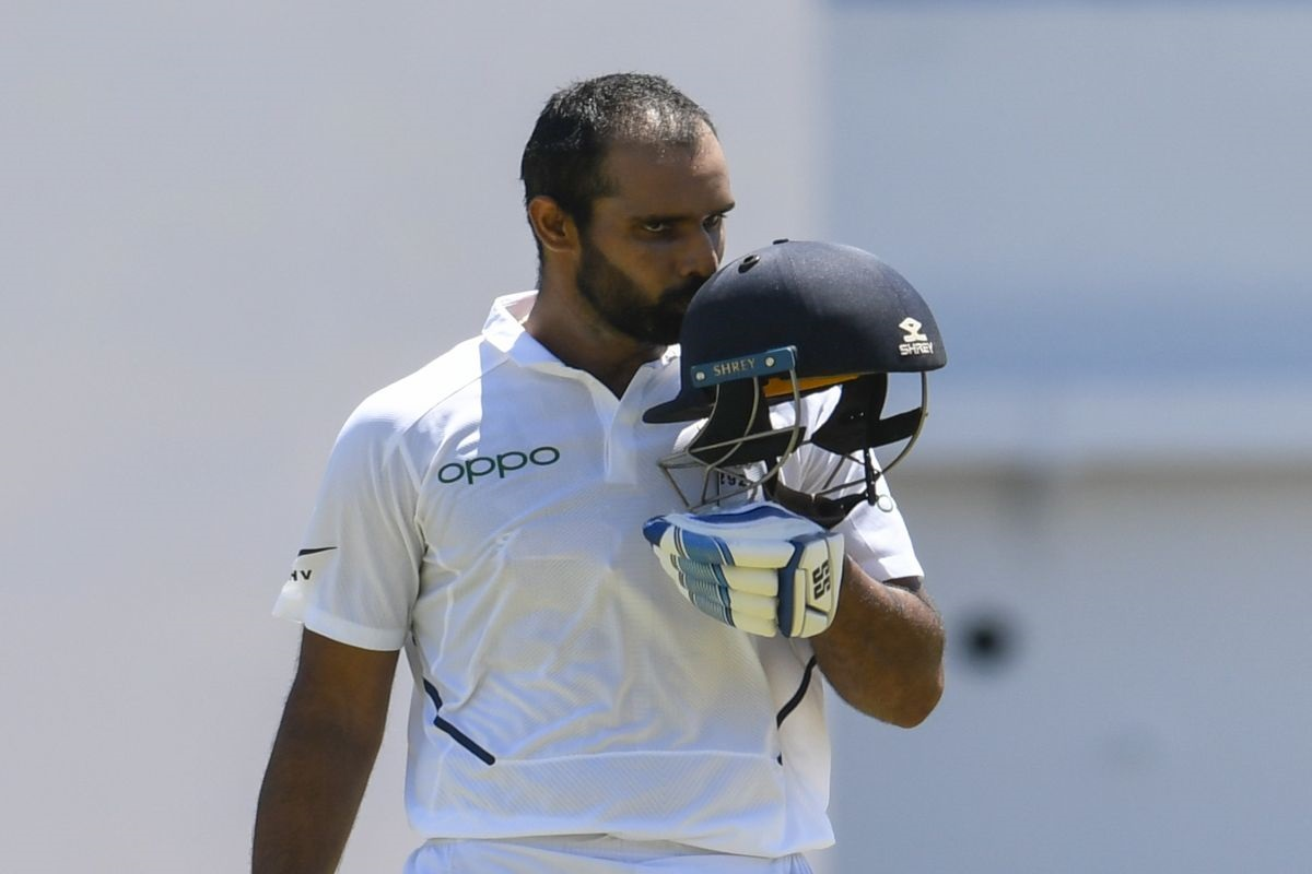Hanuma Vihari scored second slowest 100 balls from a batsman in the history of Test cricket