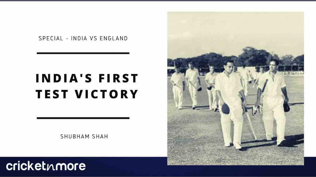 India's First Test Victory 1952 vs England