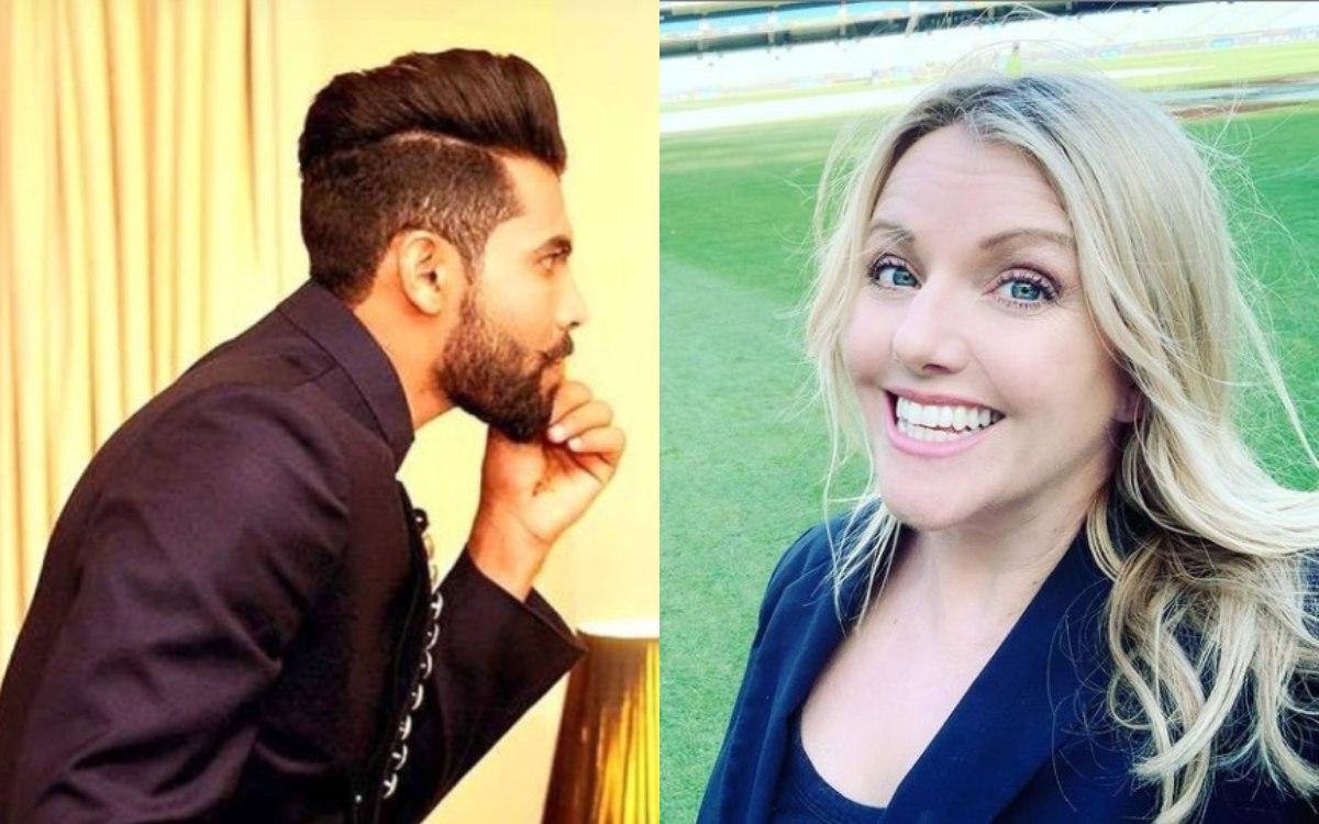 Melinda Farrell reacts to Ravindra Jadeja Curly Look