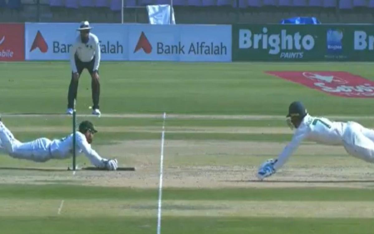 Cricket Image for VIDEO Mohammad Rizwan Brilliant Run Out To Dismiss Van Der Dussen