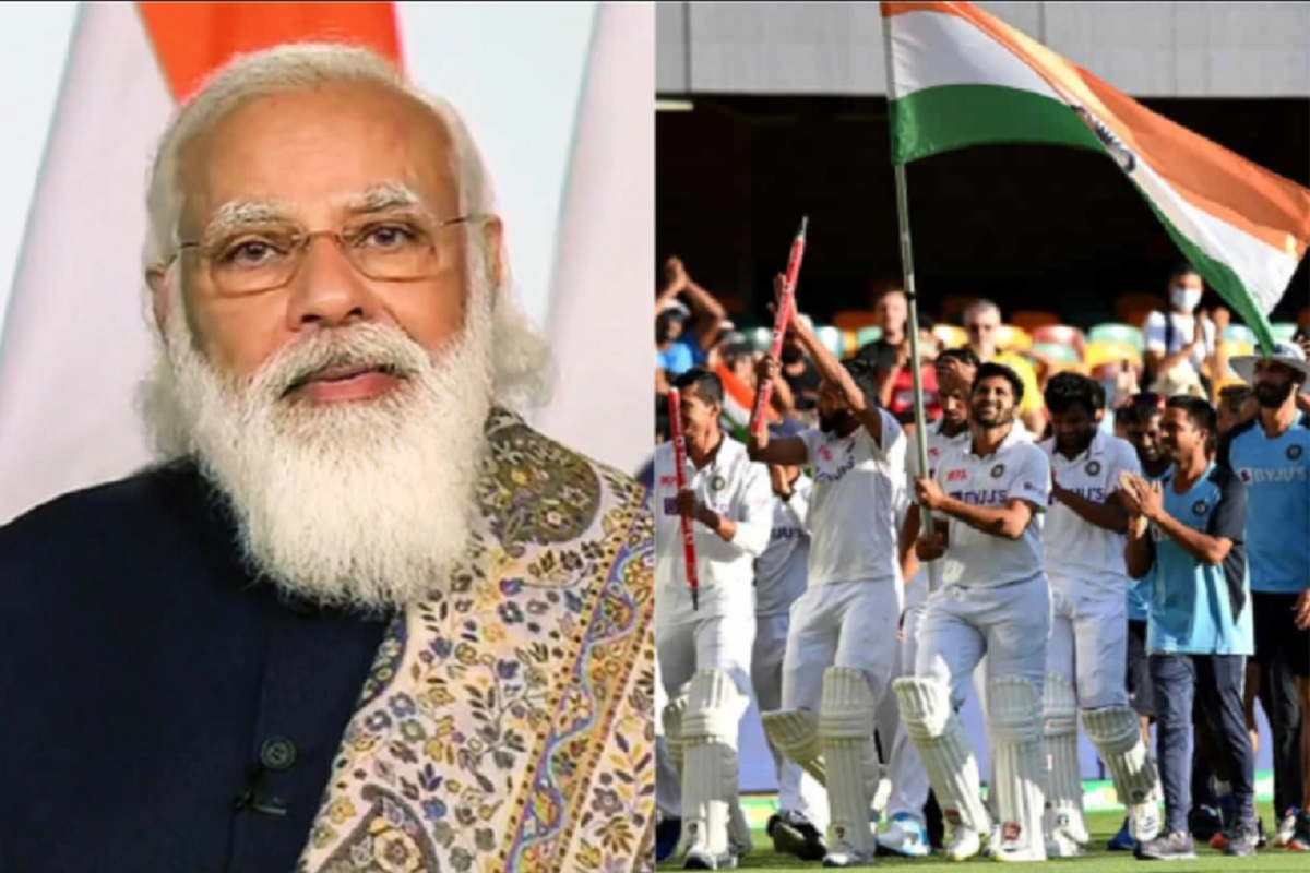 PM Modi laud Team India after their scintillating win in Australia