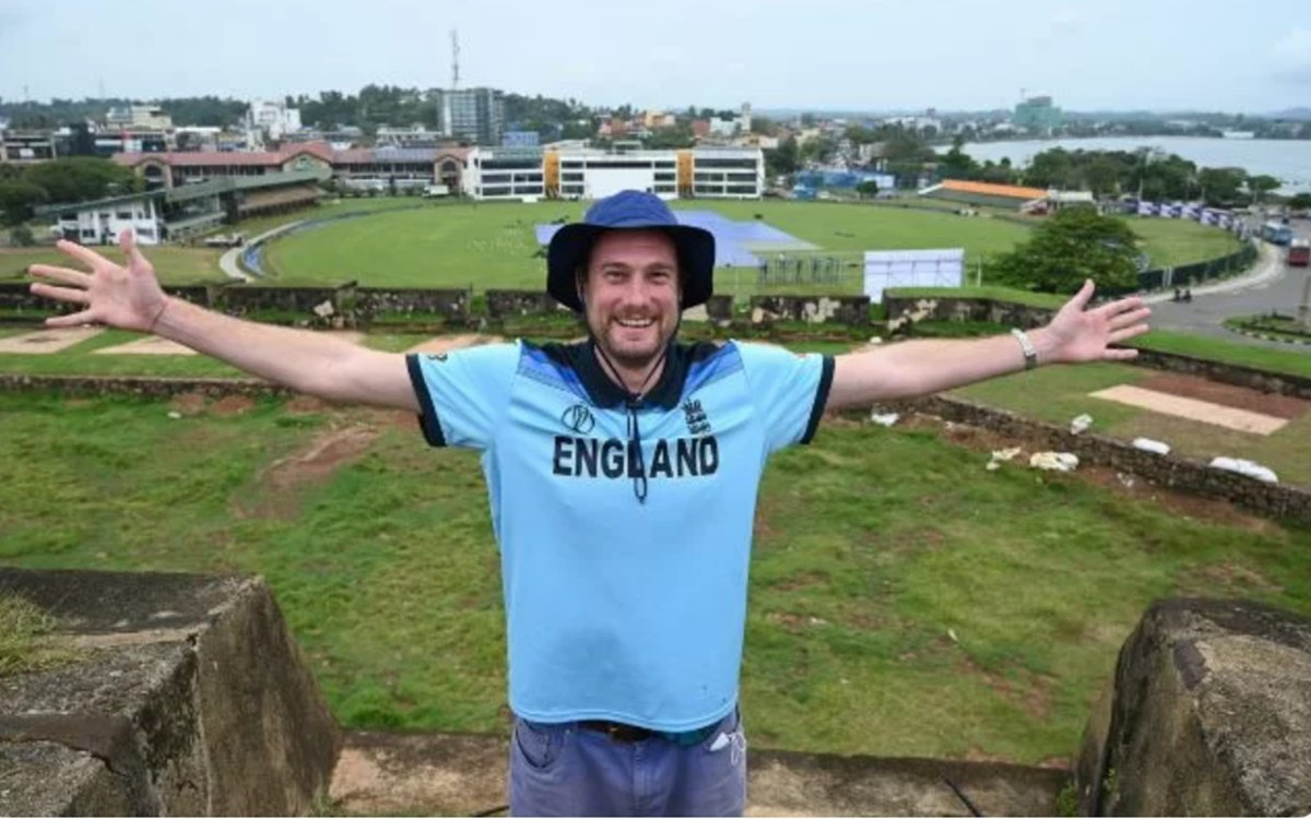 England cricket fan Rob Lewis waited for ten months in Sri Lanka to watch the Test series