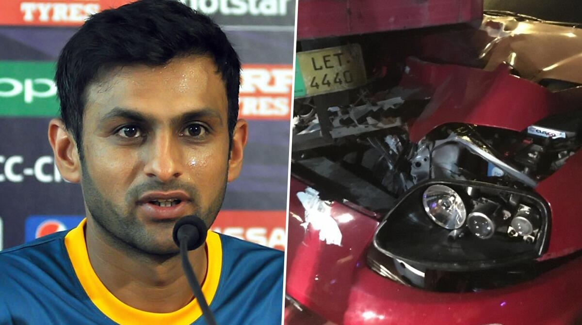 Shoaib Malik damages sports car in Lahore accident