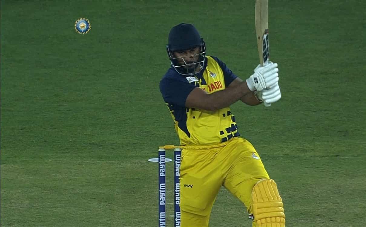 Cricket Image for Tamil Nadu Cricketer Shahrukh Khan Syed Mushtaq Ali Trophy
