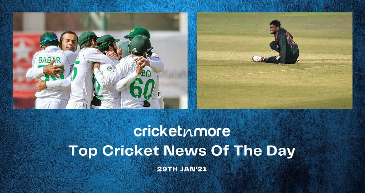 Top Cricket News Of The Day 29th January 2021