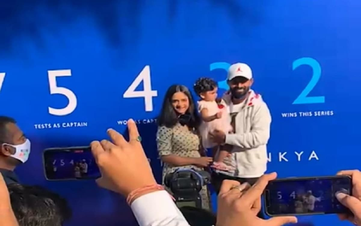 After outstanding Captaincy and performance at australia, ajinkya Rahane got grand welcome at his ho