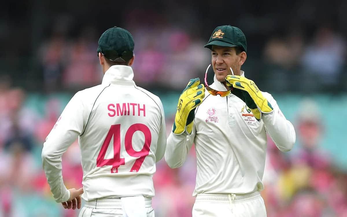 Image of Cricket Australian Captain Tim Paine Defend Steve Smith