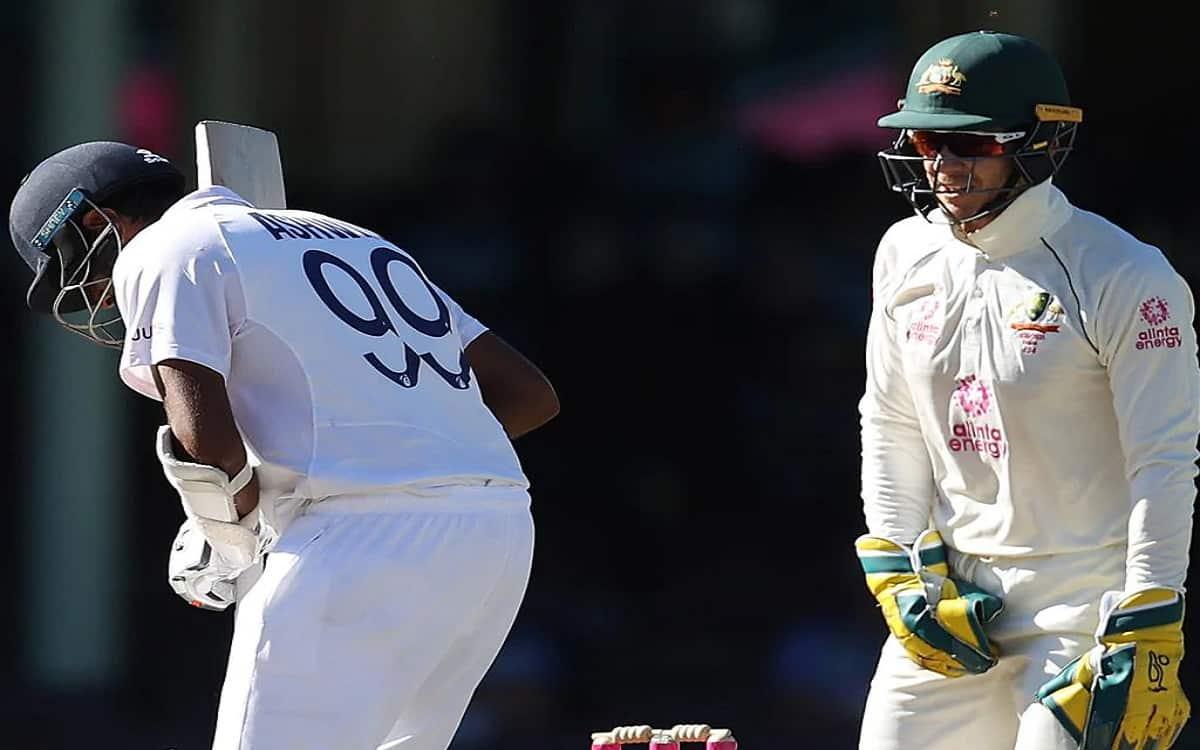 tim paine slammed for poking ravichandran ashwin in drawn sydney game