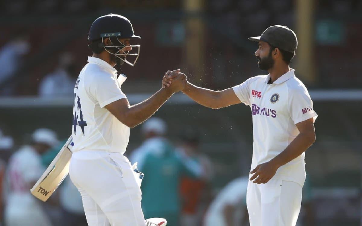 Image of Cricket Hanuma Vihari and Ajinkya Rahane on Sydney Cricket Ground