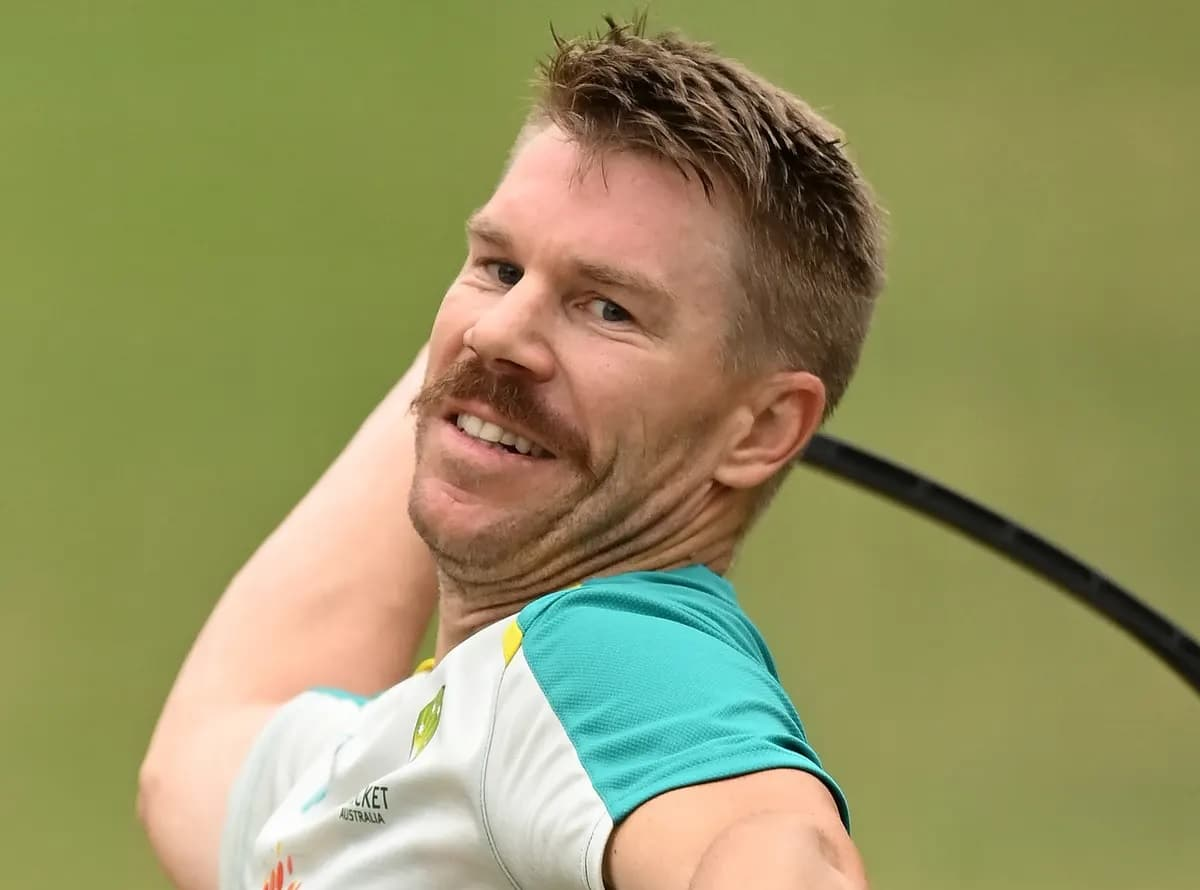 image for cricket david warner in third test