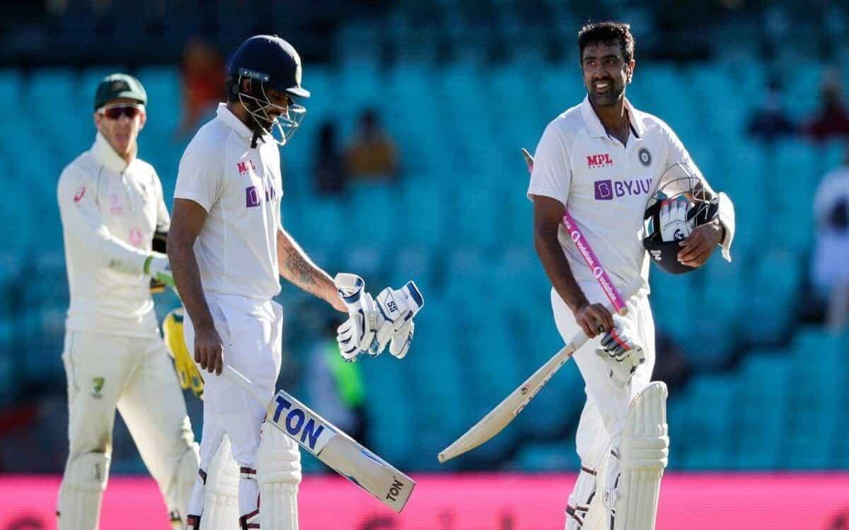 Image of Cricket Ravichandran Ashwin Impressive Batting