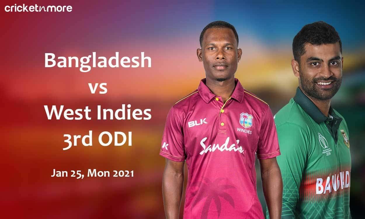 Cricket Image for Bangladesh vs West Indies, 3rd ODI – Fantasy Cricket XI Tips, Prediction & Probabl