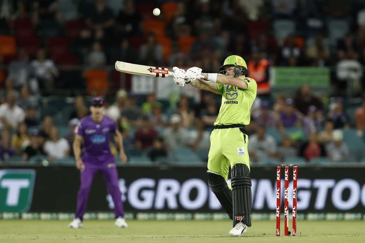 Cricket Image for BBL 10: Sam Billings Powers Sydney Thunder To 177/5 Against Hobart Hurricanes