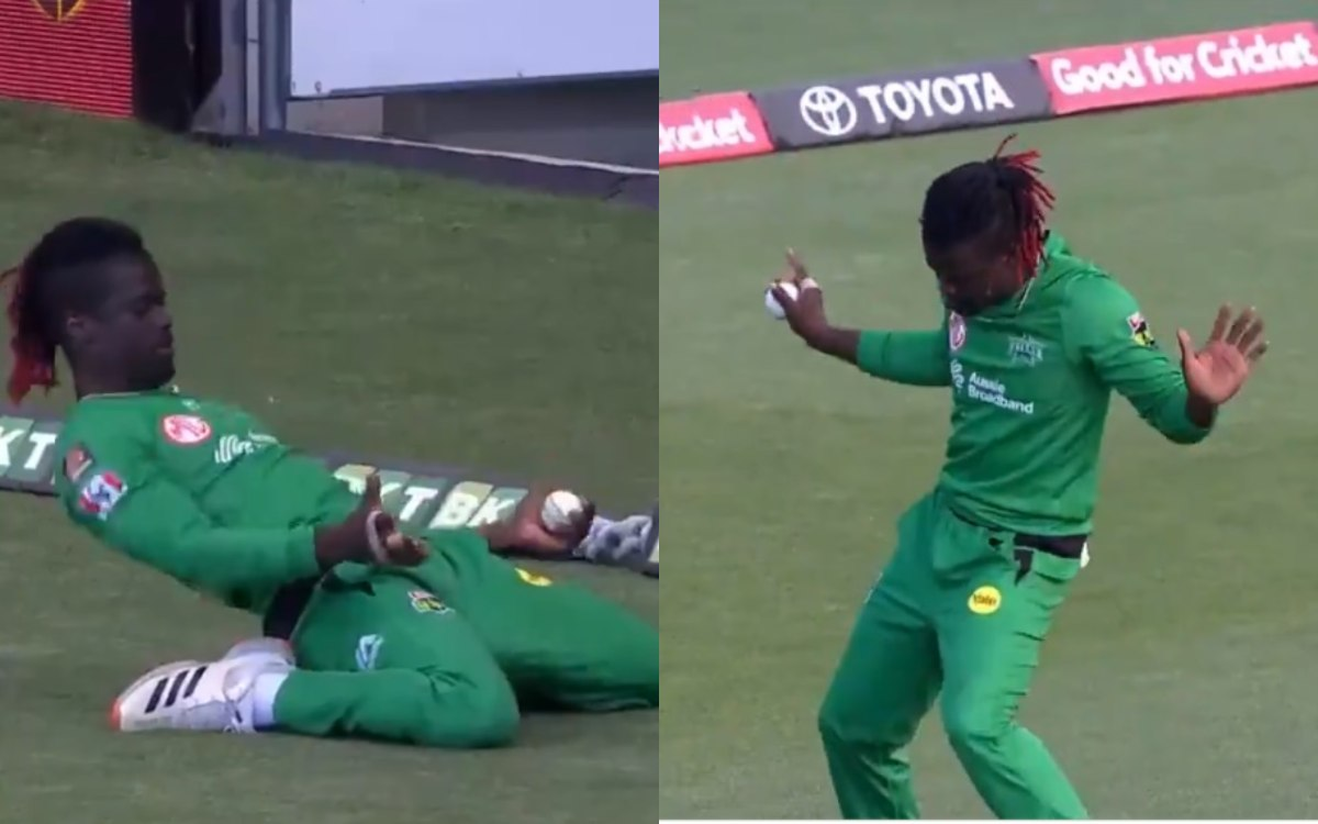 Andre Fletcher grabs brilliant catch follows them with dancing celebration