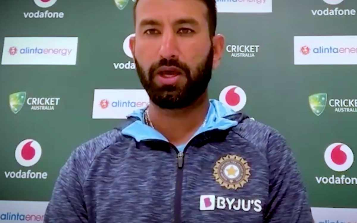cheteshwar pujara reaction after getting out against pat cummins in sydney test