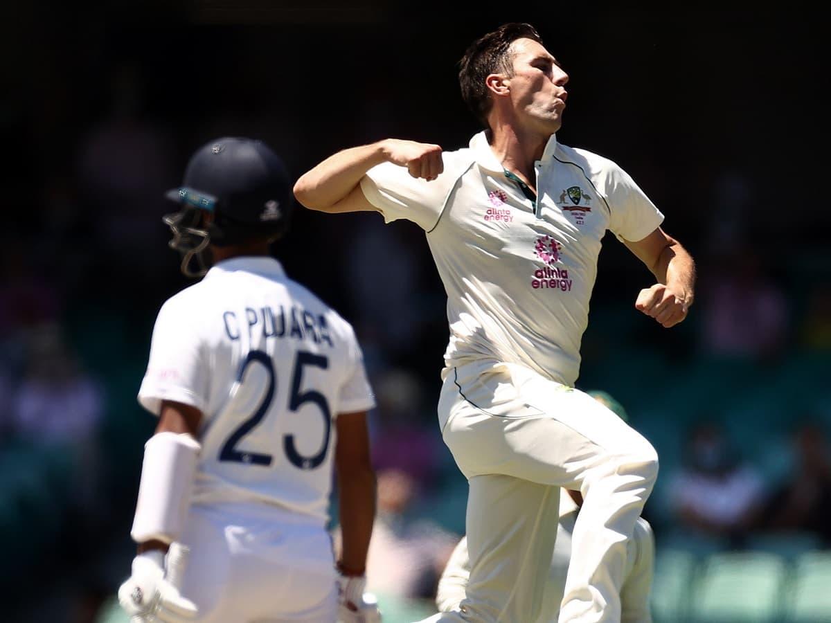 image for cricket cheteshwar pujara against pat cummins