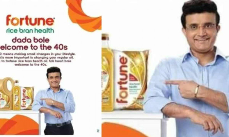 fortune cooking oil advertisement halted after sourav ganguly dada suffers a heartattack