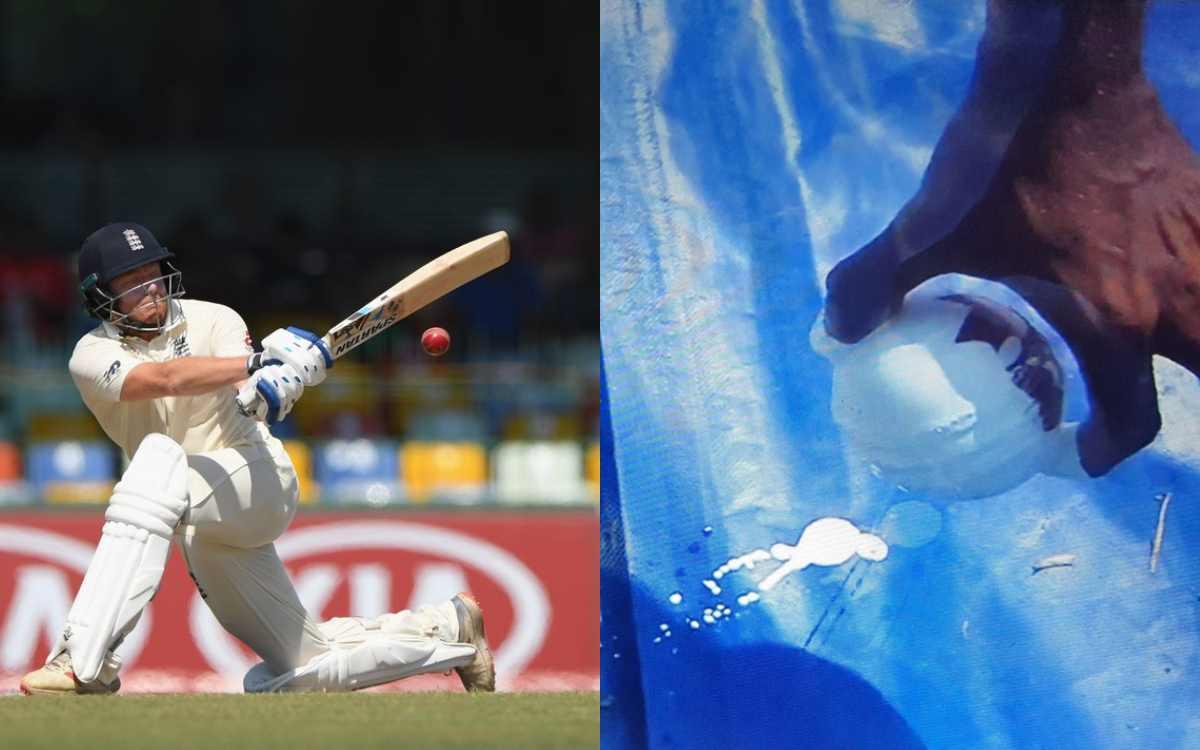 Cricket Image for VIDEO : जॉनी बेयरस्टो ने मारा ऐसा छक्का 'लाल गेंद हो गई सफेद', बाद में अंपायर्स को