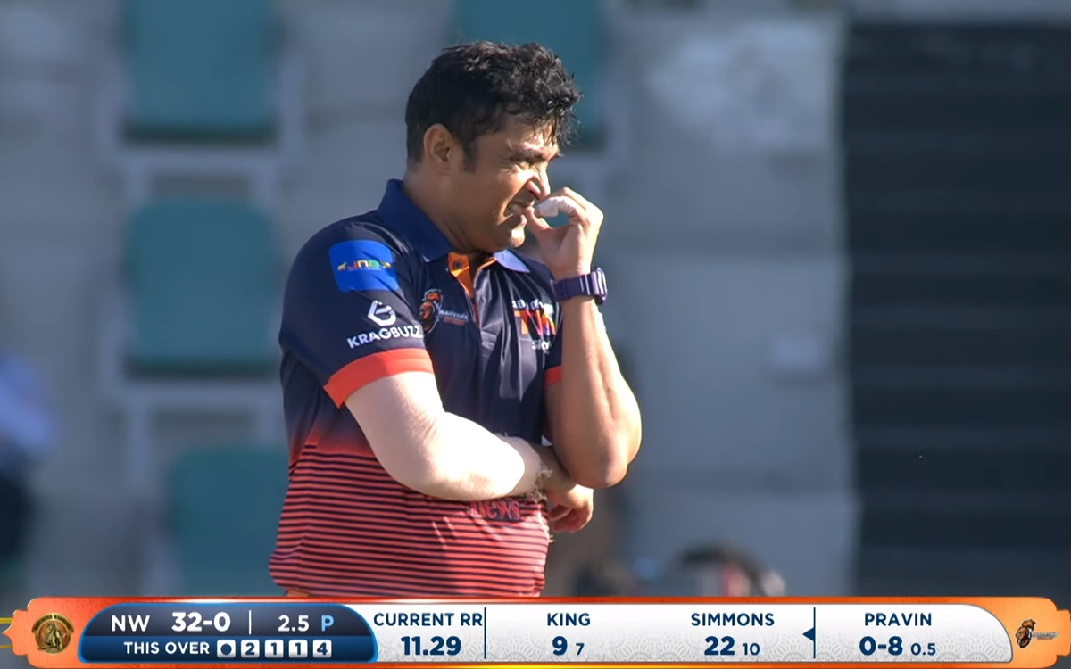 Cricket Image for Abu Dhabi T10 Pravin Tambe Brilliant Bowling In Abu Dhabi T10 Leauge