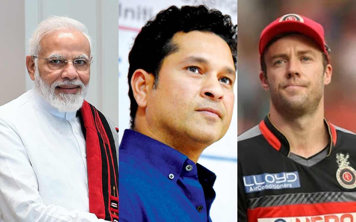 Cricket Image for प्रधानमंत्री से लेकर सचिन तक, वीरू से लेकर डीविलियर्स तक, सोशल मीडिया पर नहीं रूक
