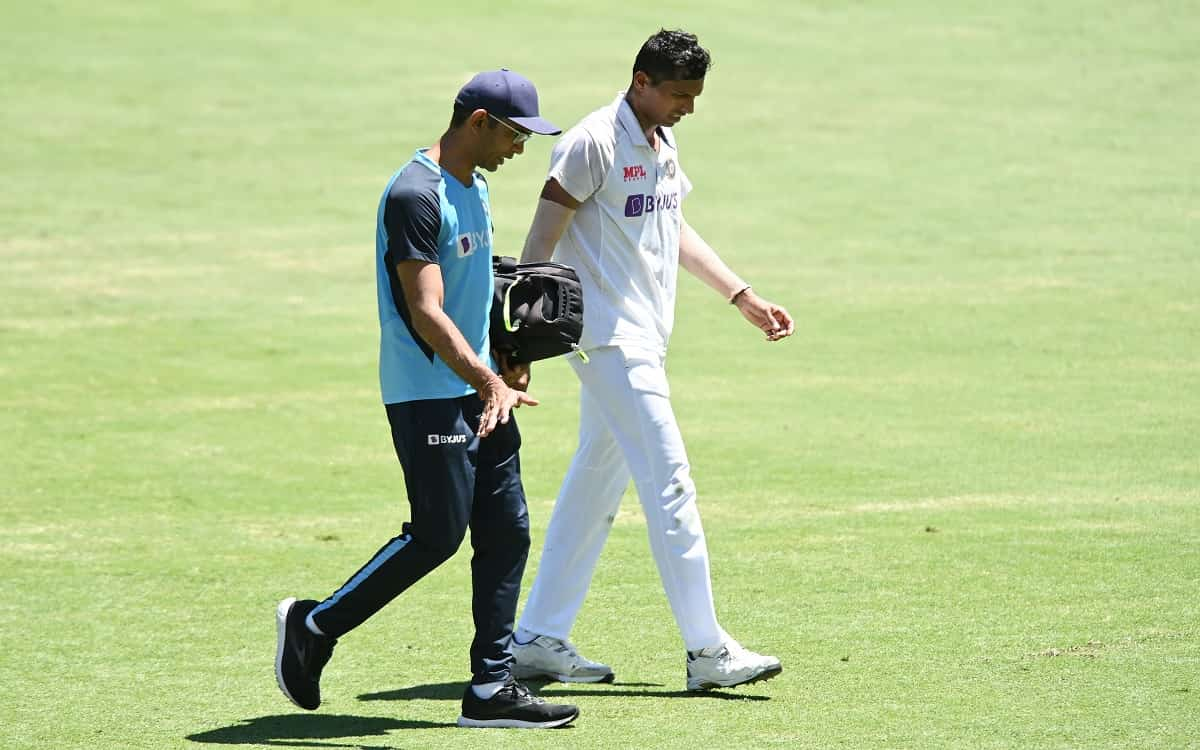 Australia vs India Navdeep Saini Injured during Test Match at Brisbane Cricket Ground