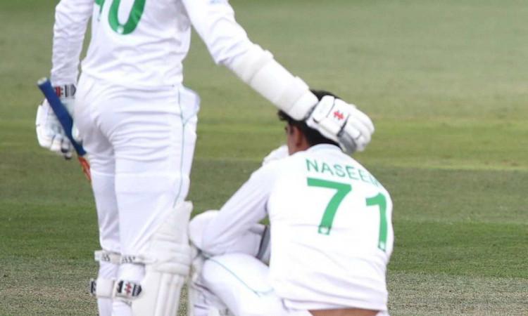 new zealand vs pakistan naseem shah voice caught on stump mic