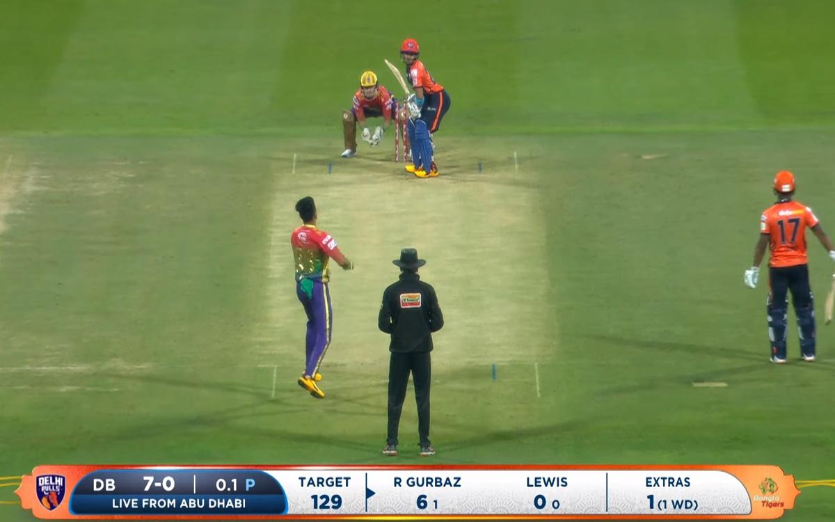 Cricket Image for Abu Dhabi T10 Rahmanullah Gurbaz Brillaint Batting In Abu Dhabi T10 League