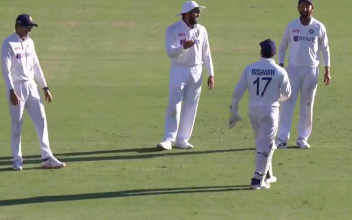 rishabh pant got excited during catch appeal rohit sharma and cheteshwar pujara laughing video