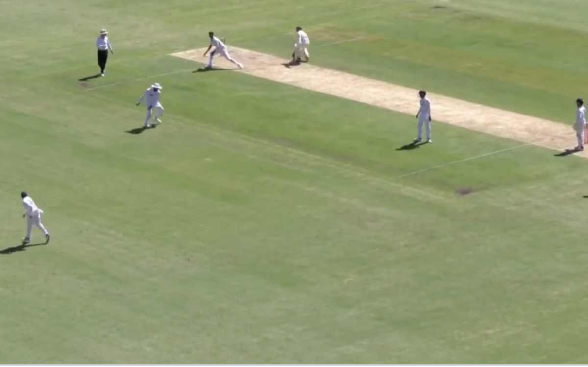 rohit Sharma survives a bad throw from prithvi shaw in brisbane test india vs australia video